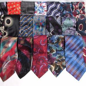 NEW Group of 6 Men's Bold Silk CLASSIC LENGTH TIES